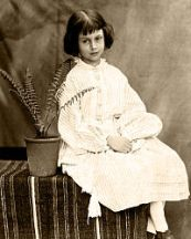 Alice Pleasence Liddell (Hargreaves) aged 7, photographed by Charles Dodgson (Lewis Carroll) in 1860