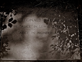 After her cremation in Golders Green Crematorium Alice Liddell was buried under the name of Mrs Reginald Hargreaves in Lyndhurst Hampshire